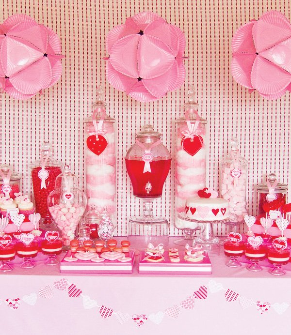 Schön Pink And Red Valentineu0027s Day Party Ideas
