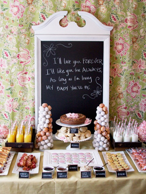 Bridal Shower Brunch Food Ideas