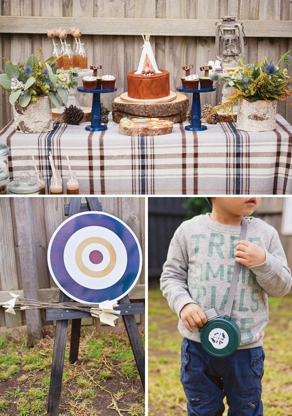 Winter Camp Party With An Archery Target