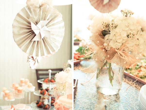 Charming rustic shabby chic bridal shower hostess with the bridal shower decor junglespirit Image collections