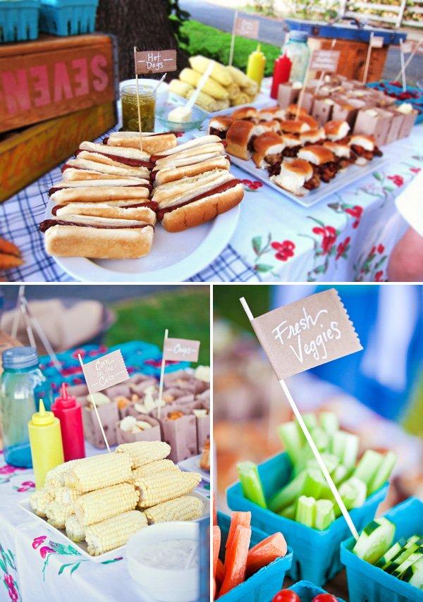 Farmers Market Inspired Backyard BBQ Hostess