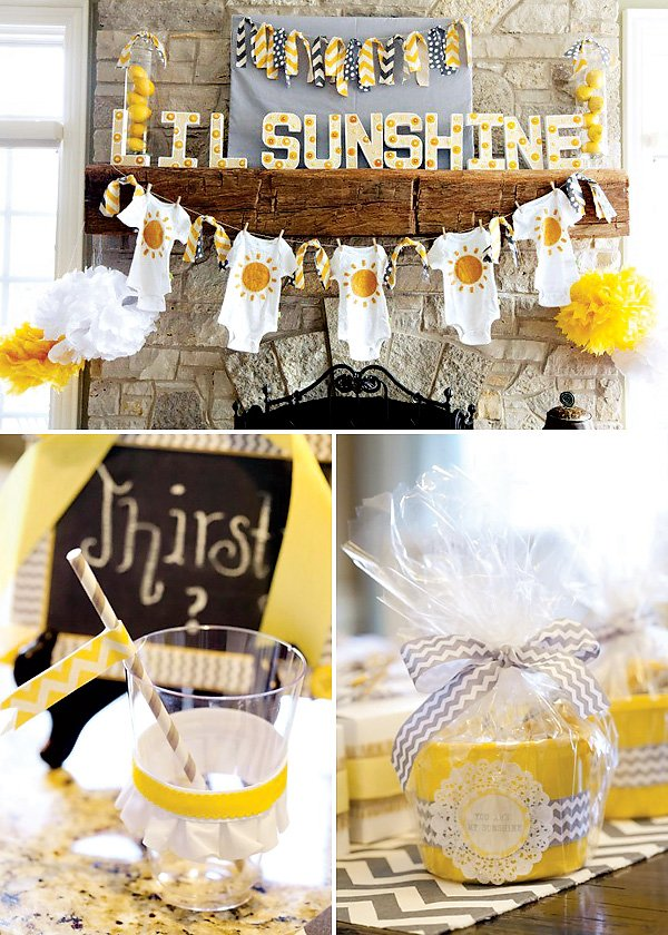 You Are My Sunshine Gender Neutral Baby Shower Hostess With