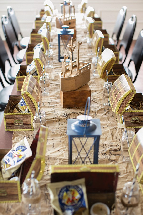 Pirate Tablescape And Ship Centerpiece